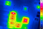 Thermal image of a electronic assembly