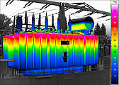 Thermal image of a transformator