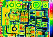Microthermography microchip