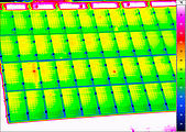 Thermal image of an photovoltaic plant