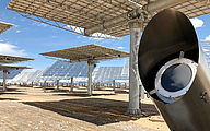 Solar Power Tower Check - Mirror arrays and protective housing
