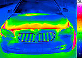 thermal imaging of a bonnet