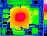 Infrared image of an electronic board