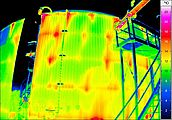 thermal imaging at a biogas plant