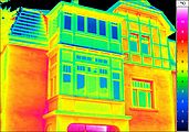Thermal image of a building