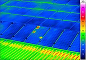 thermal imaging of a photovoltaic installation