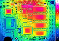Thermal image of a board