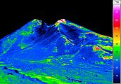 Thermal image of a vulcano