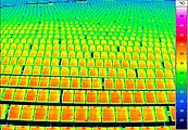Thermography of a photovoltaic large scale plant