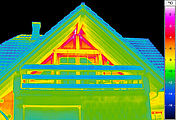 Thermographic building inspections - balkony