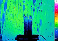 Thermal image of a bottle explosion