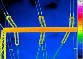 Thermal image of high-voltage lines