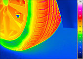 Thermal image of a wheel