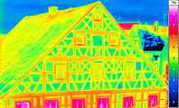 thermal imaging of a framework facade