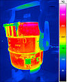 Thermal imaging of a ladle