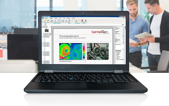 Thermografie-Software IRBIS® 3 report - Bildnachweis: © iStock.com / johnnygreig