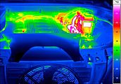 thermal image of a car engine