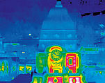 Super Zoom Thermography of the City Hall in Dresden