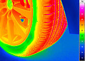 thermal image of a tire