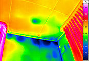 Building thermography inside wall