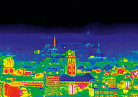 Super Zoom Thermal Image of the City Hall in Dresden