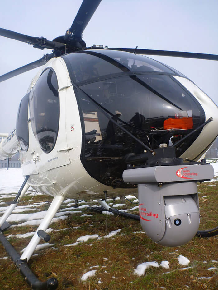 Helikopter mit ImageIR® Gimbal von InfraTec