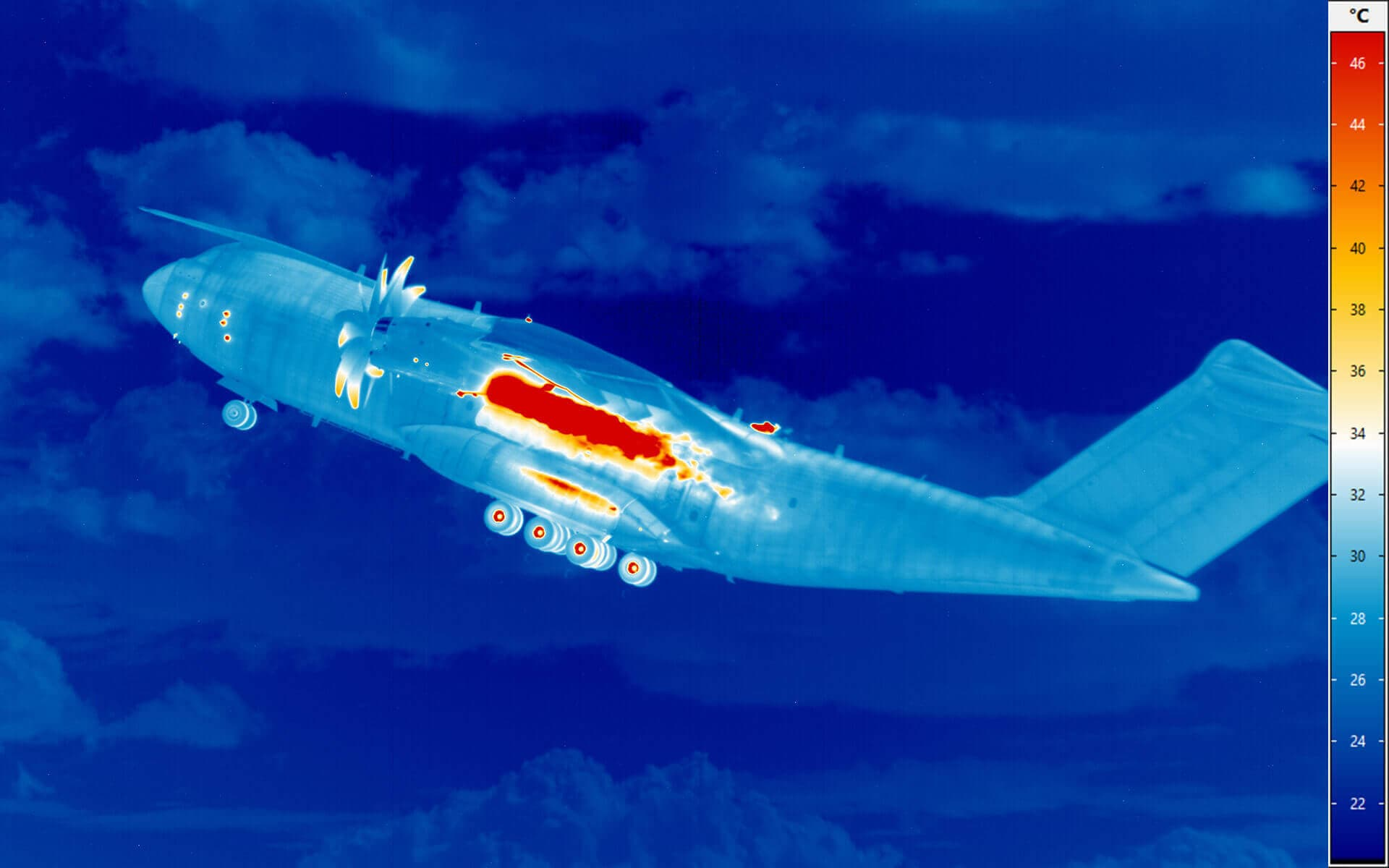 High-Speed-Thermografie: Start eines Airbus