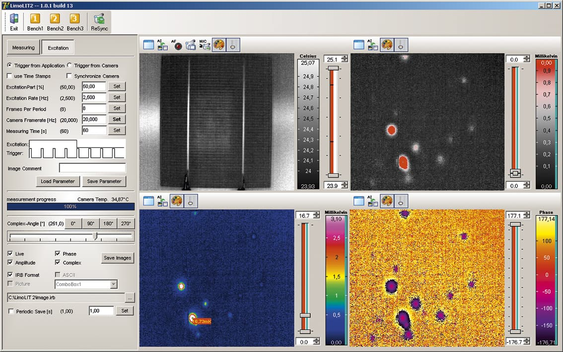 Automatisierte Thermografie Bediensoftware PV-LIT
