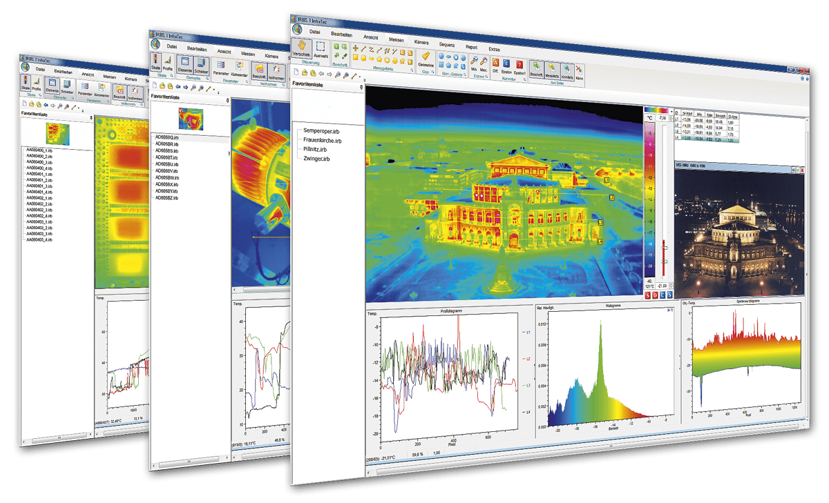 Analyse-Software der Thermografie-Software Familie IRBIS® 3