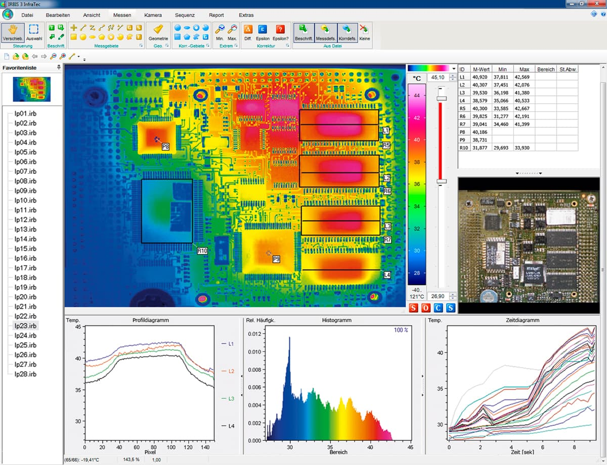 Screenshot Thermografie-Software IRBIS 3