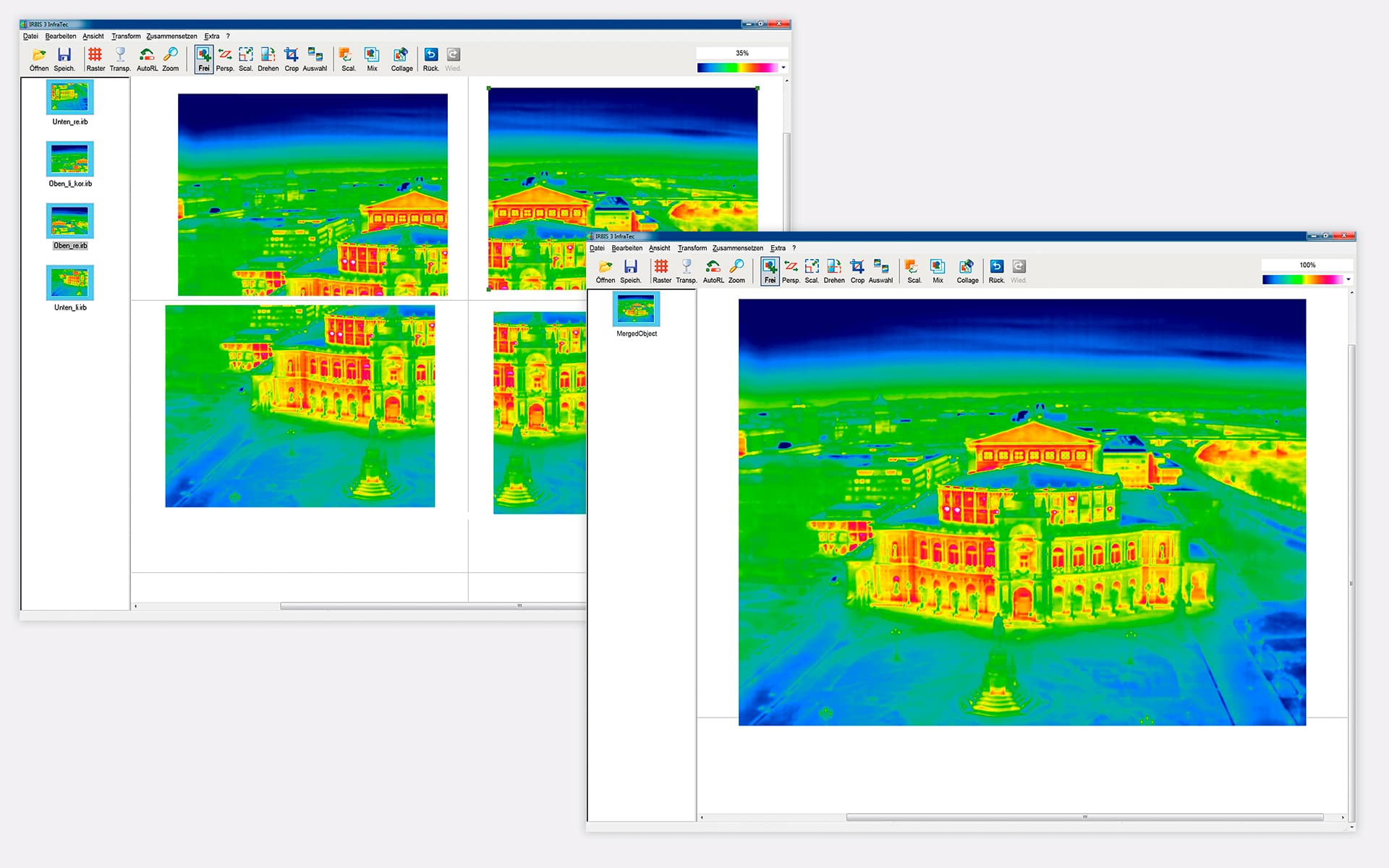 Thermografie Software IRBIS 3 mosaic