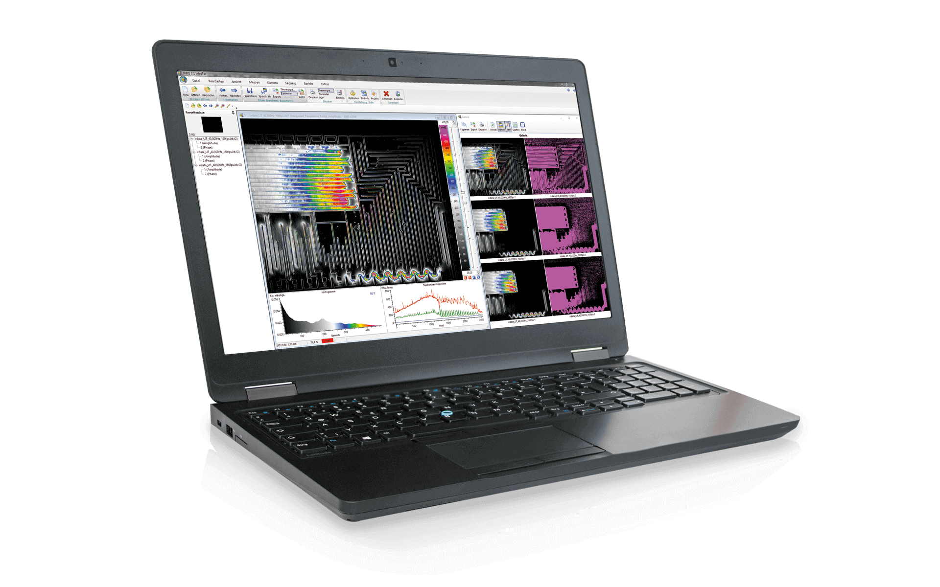 Notebook mit Thermografie-Software IRBIS® 3 von InfraTec