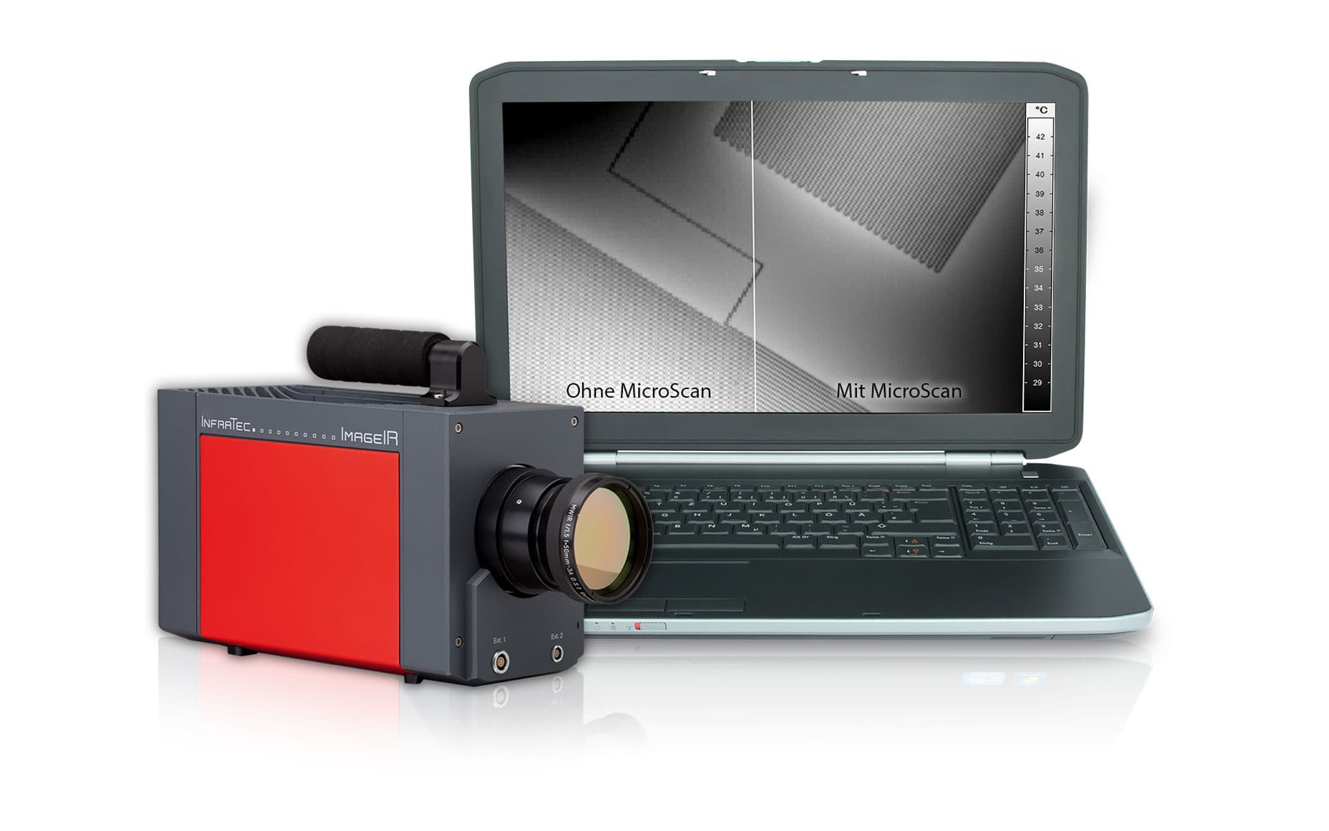 Thermal imaging camera series ImageIR® with MicroScan from InfraTec