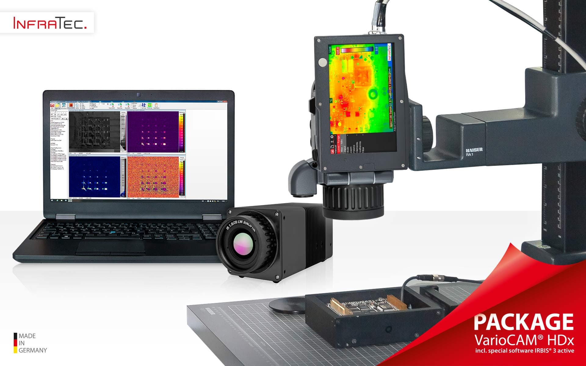 Lock‐in Thermography with VaroCAM® HDx