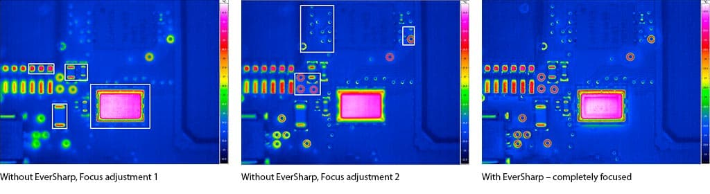 Comparison of Thermal Images with and without Eversharp Function