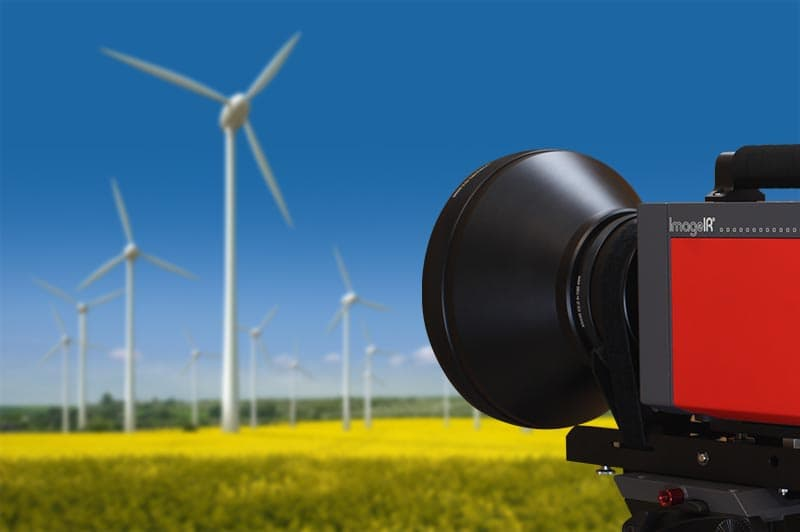 Thermal imaging for optimisation of installed wind turbines