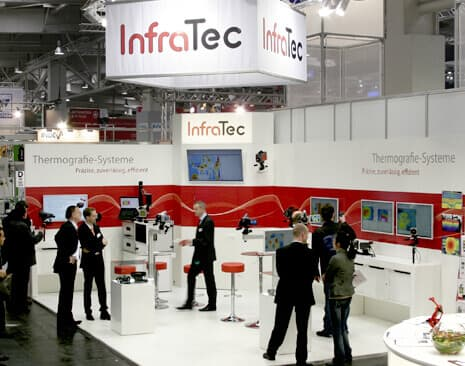 InfraTec booth at the Hannover Messe 2013