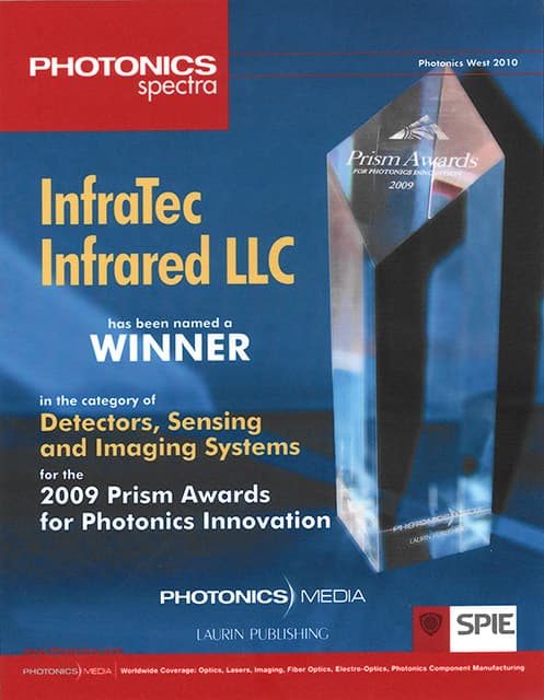 InfraTec's Fabry-Perot Detector wins PRISM AWARD