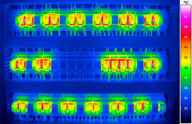 thermal imaging to inspect electrical installations