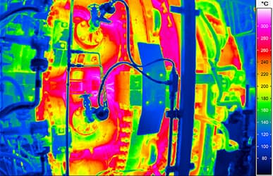 Thermography for thermal optimisation