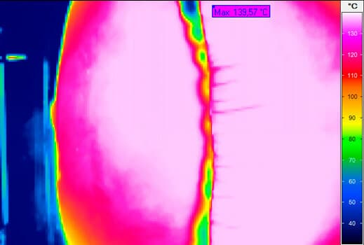 thermal imaging of an airbag explosion
