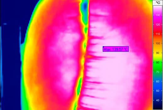 Thermography of an airbag explosion