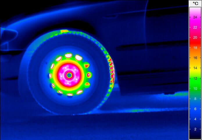 Thermography Brake test with ABS