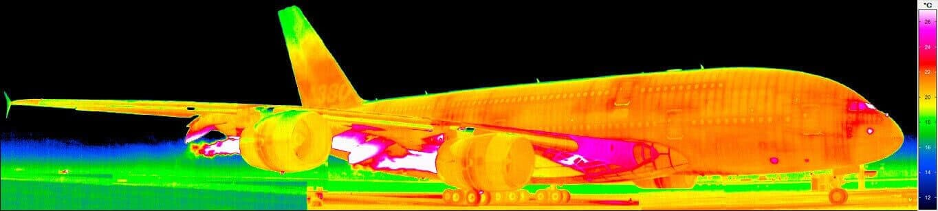 Thermography of an Airbus A380