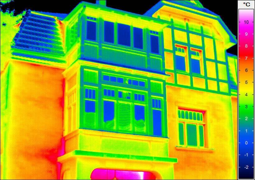 Building thermography - building-facade