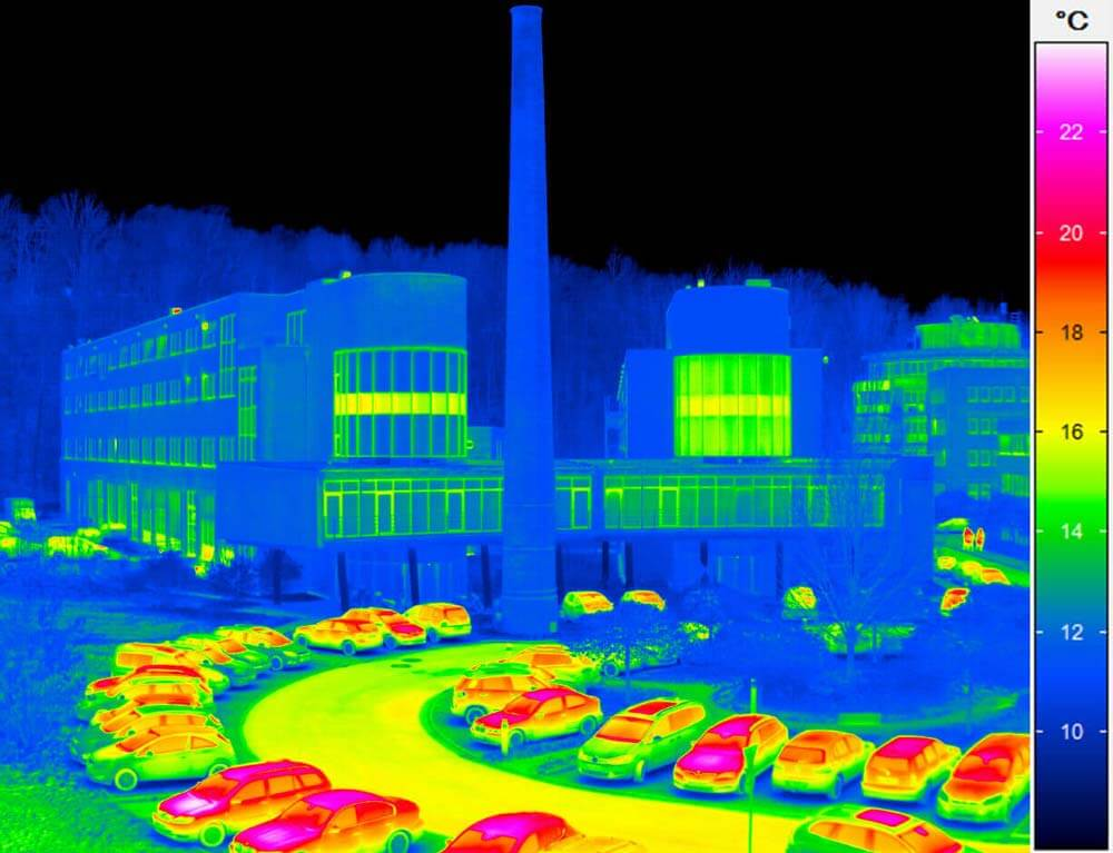 InfraTec Company Building Thermal Image