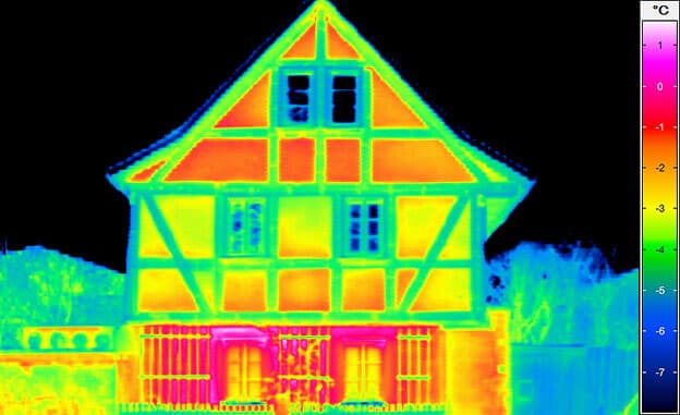 Building thermography - framework facade