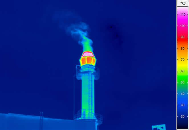 Chimney of an industrial stack