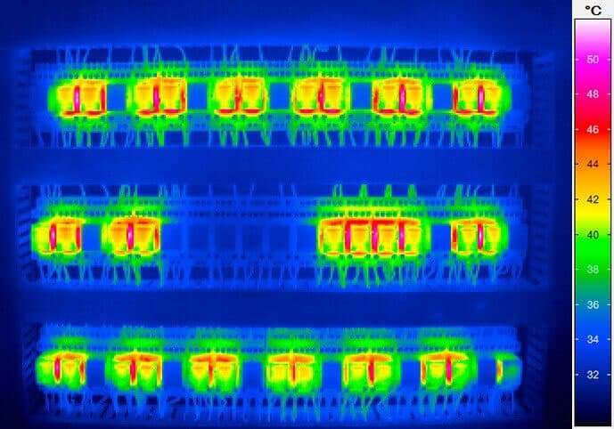 Thermographic recording of a control cabinet
