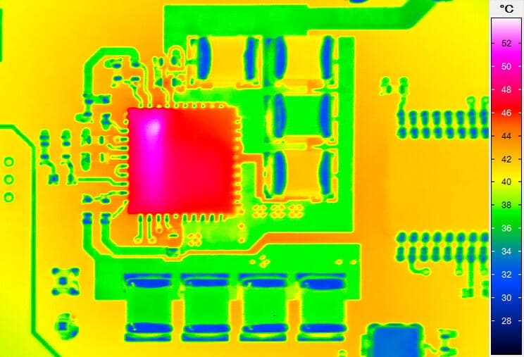 Thermography of a circuit board